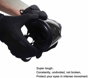 db35af15f75 AutoPowerz Dirt Bike Racing Transparent Goggles with Adjustable Strap  Motorcycle GogglesBlack