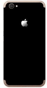 GadGetsWrap G-628 black Matte fiber skin sticker both sides of Vivo V5S iPhone Style with Apple LOGO Mobile Skin