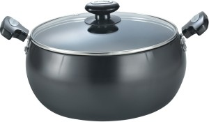 Prestige Hard Anodised plus sauce pan dia 240mm with glass lid cookware Pan 24 cm diameter