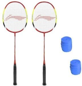 Li-Ning Q30 Badminton Strung Racket with Grip - Pack of 2 G5 Strung