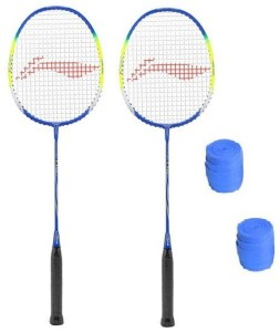 Li-Ning Q50 Badminton Strung Racket with Grip- Pack of 2 G5 Strung