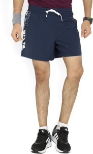 Reebok Printed Men's Dark Blue Sports Shorts