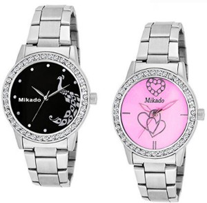 Mikado Premium Quality Casual and party wear analogue combo watches for Girls And Women Analog Watch  - For Girls