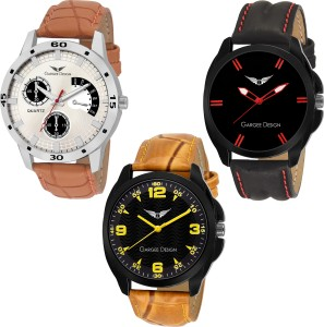Gargee Design New 22246 Elegant Combo Lavish Pre-GST Stock Clearance Analog Watch  - For Men