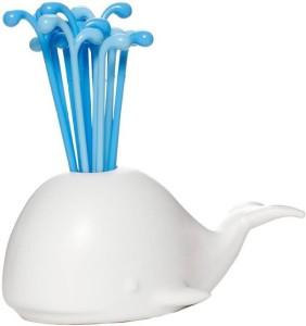 ShopAis Whale Shape Plastic Fruit Fork Set