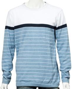 360 Degree Full Sleeve Striped Men Sweatshirt