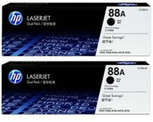 HP HP 88A pack of 2 Single Color Toner