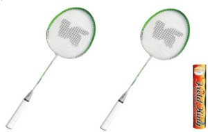 Nalky Pro- 9977 Badminton Racket with Fieldking Shuttlecock - Pack of 2 G5 Strung