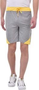 Tej Star Solid Men Grey Running Shorts