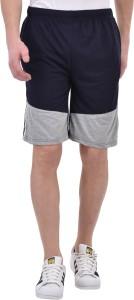 Tej Star Solid Men's Black Running Shorts