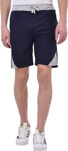 Tej Star Solid Men's Dark Blue Running Shorts