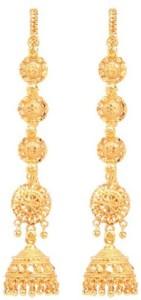 GoldNera Earchain Latkan Design Alloy Jhumki Earring
