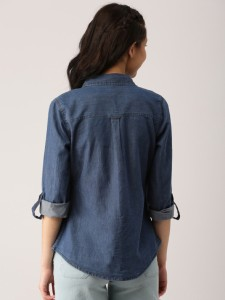 a6fa1aaaad0 Trendyfrog Girls Solid Casual Denim Blue Shirt Best Price in India ...