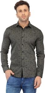 Being Fab Men's Printed Casual Black Shirt