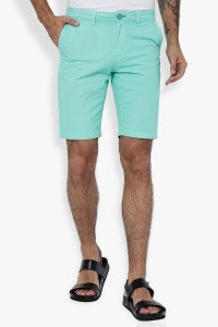 The Indian Garage Co. Solid Men Light Green Chino Shorts