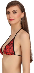 f922847e500ca Embibo Women s Plunge Red Black Bra Best Price in India