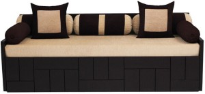 Auspicious Home Nelson (2 Pillows, 5 Bolsters) Double Fabric Sofa Bed
