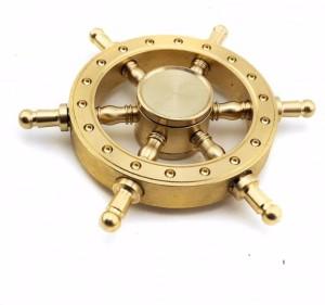 Akrobo Brass Wheel Fidget Spinner