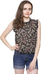 Arovi Casual Sleeveless Printed Women Multicolor Top
