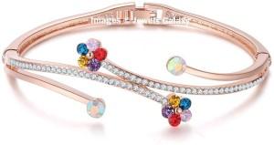 Jewels Galaxy Alloy Cubic Zirconia Rose Gold Charm Bracelet