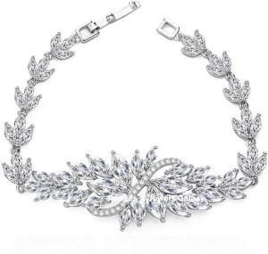 060f9a9709f9 Jewels Galaxy Alloy Swarovski Crystal Platinum Charm Bracelet