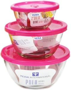 YERA POLO COMBO Glass, Plastic Bowl Set