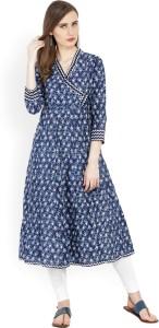 af774488cb7 Vishudh Printed Women s A-line Kurta ( Blue )