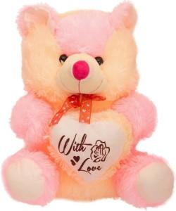Kt Kashish Toys Ktkashish Pink & Cream Color Teddy Bear 45 cm  - 45 cm
