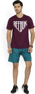 Reebok Solid Men's Blue Sports Shorts