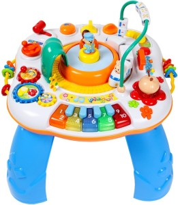 GoAppuGo Multifunctional Kids Activity Table With Train And Piano Baby Birthday Gift For 1 2 3