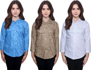 Indistar Women Floral Print Casual Multicolor Shirt