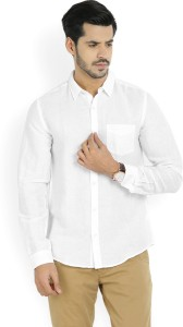 United Colors of Benetton. Men's Solid Casual White Shirt
