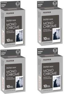 Fujifilm 4X instax mini Monochrome Instant Film, 10 Pack Film Roll