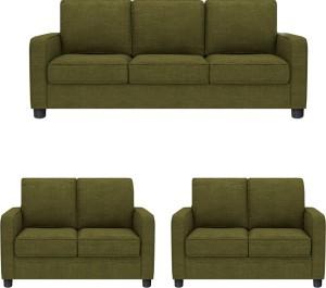 GIOTEAK Fabric 3 + 2 + 2 GREEN Sofa Set