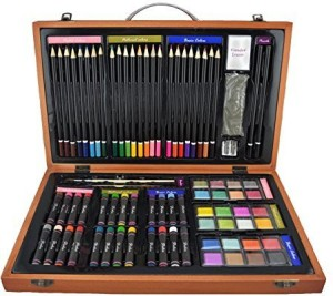 strokes art supplies deluxe set for drawing and painting 80 piece