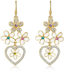 Shimmer Divine Luxuria Crystal Copper Drop Earring