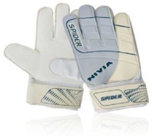 Nivia Spider Goalkeeping Gloves (L, White)