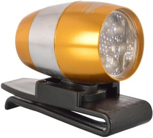Dark Horse BICYCLE MINI-SAFETY SUPER BRIGHT 6 LIGHT GOLD LED Front Light