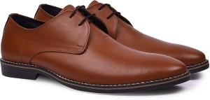 Andrew Scott Men's Brown Leather Formal Derby