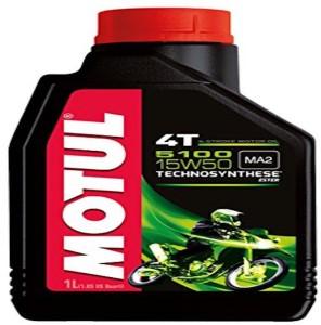 Mr. Nut & Boltz Motul 5100 5100 4T Hybrid 15W-50 API SM Technosynthese Petrol Engine Oil for Bikes (1 L) Engine Oil1 L