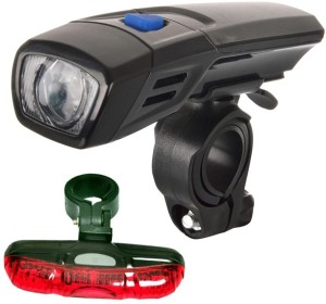 Dark Horse Bicycle Imported CE Standard Numen Headlight/Front light & 5 LED 5 Mode Tail Battery Light Combo/Set LED Front Rear Light Combo