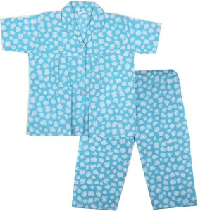 9013d1f8bd BownBee Kids Nightwear Girls Printed Cotton Blue Pack of 1 Best Price in  India | BownBee Kids Nightwear Girls Printed Cotton Blue Pack of 1 Compare  Price ...