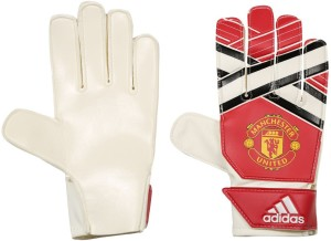Adidas Young Pro MANU Goalkeeping Gloves (L, Red, White, Black)