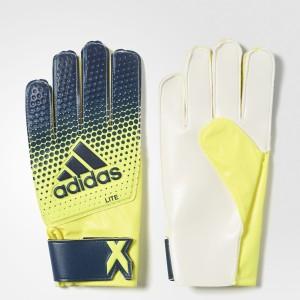 Adidas X Lite Goalkeeping Gloves (L, Blue, Yellow, Silver)