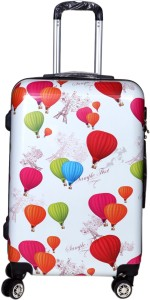 Tramp & Badger 360Â Rotating Wheels, Hot Air Ballon Printed Pattern Non-Breakable & Extra Light Weight Trolley Bag-AirBallon-24 Expandable  Cabin Luggage - 24 Inches