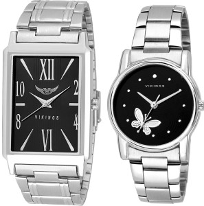 vikings STYLISH SQUARE AND ROUND COMBO ( PARTY WEAR FORMAL AND CASUAL) Watch  - For Men & Women