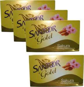 Santoor Gold Sakura Soap ( 500 g Pack of 4 )