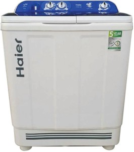 Haier 8 kg Semi Automatic Top Load Washing Machine White, Blue