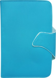 Fastway Book Cover for iBall Brisk 4G2 16   GB Blue, Cases with Holder, Artificial Leather