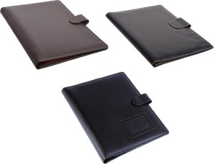 coi leatherite brown and brown file folder and resume folder for